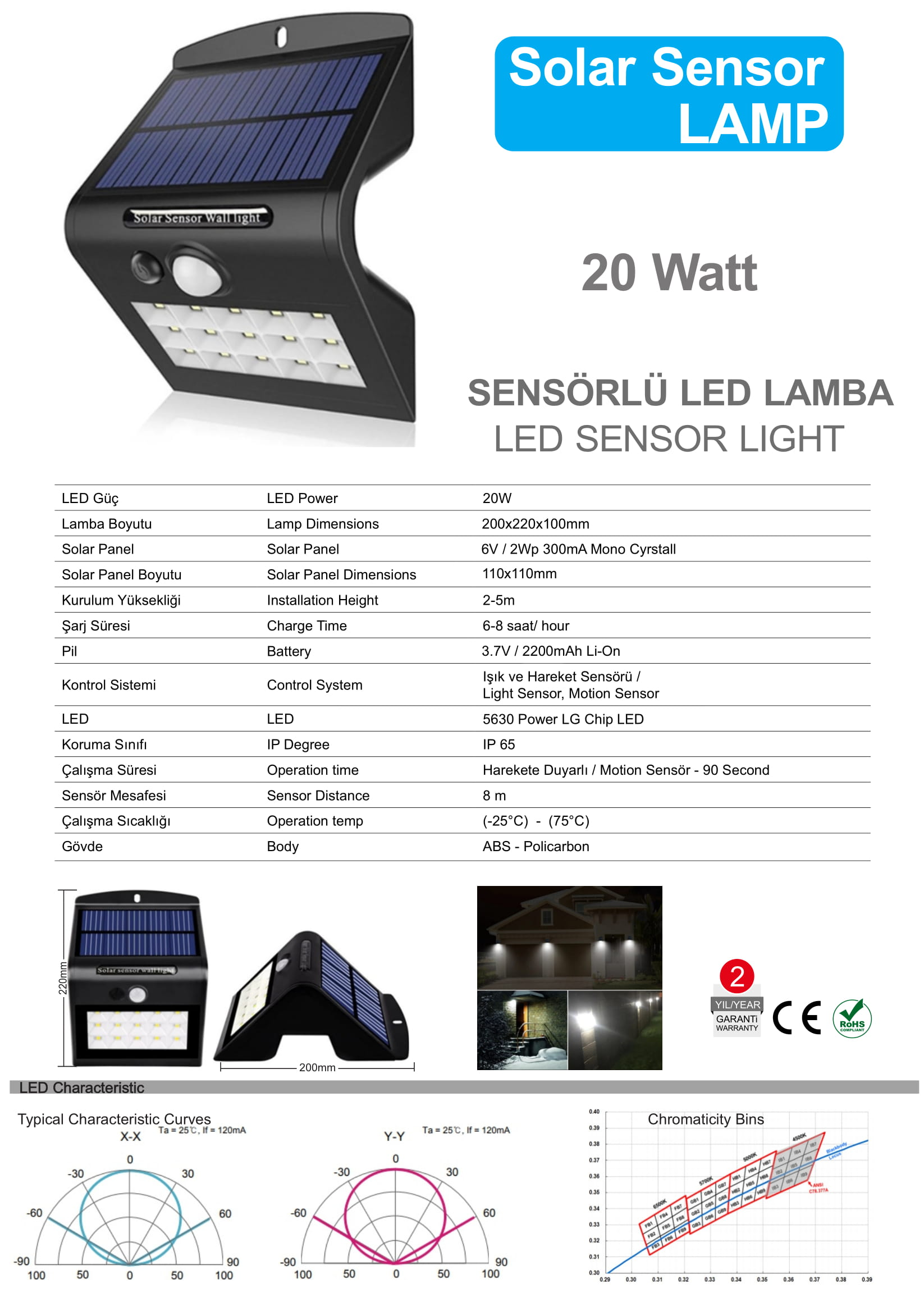 sensörlü lamba