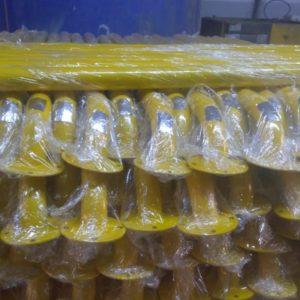 araç stoperi otopark stoper bariyer sistemi araç sonlandırma yaslama direği 180 cm 2 metre ankara imalatı ve üretimi ucuz fiyat otopark stoperi lastik bariyer paletli