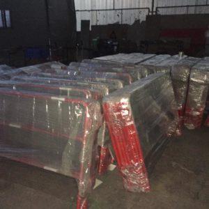 kırmızı metal güvenlik bariyerleri polis zabıta miting ve özel güvenlik metal bariyerler güvenlik barikatı ve barajı güvenlik bariyer sistemleri üretimi ihracat