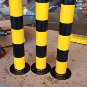sabit park bariyeri demir delinatör duba metal delinatör otopark demir bariyer kaldırım dubası metal duba yol bariyeri flanşlı sabit bariyer imalatı üretimi