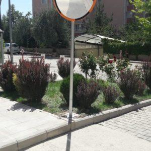 trafik güvenlik aynası otopark güvenlik aynası bursa müşteri fotoğrafı ilgi trafik sistemleri trafik ürünleri malzemeleri