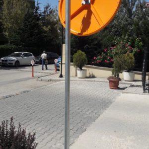 trafik güvenlik aynası sarı otopark güvenlik aynası bursa müşteri fotoğrafı ilgi trafik sistemleri trafik ürünleri malzemeleri