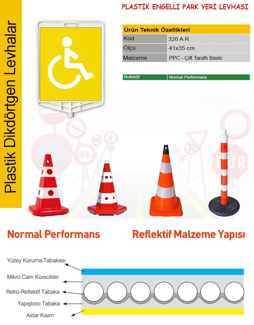 engelli park yeri tabelası