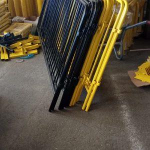 metal güvenlik bariyeri demir bariyer trafik ürünleri trafik malzemeleri ilgi trafik sistemleri zabıta bariyeri polis bariyeri güvenlik barikatı toptan imalatı üretimi sarı siyah