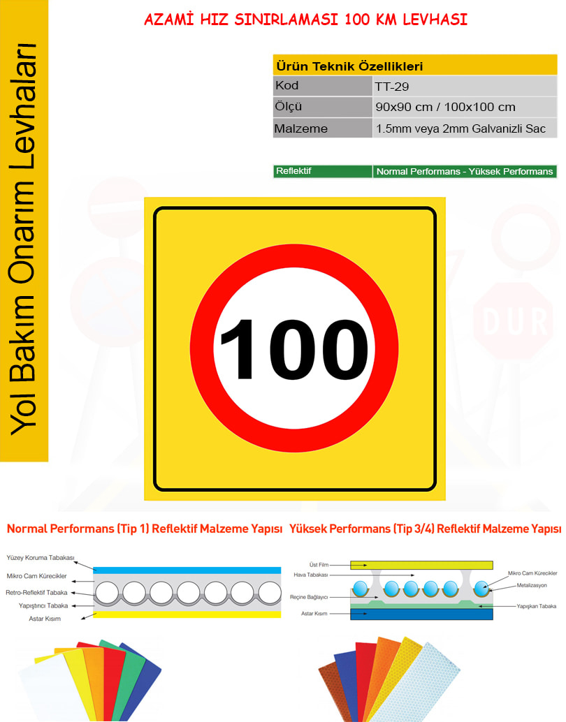 hız sınırı tabela