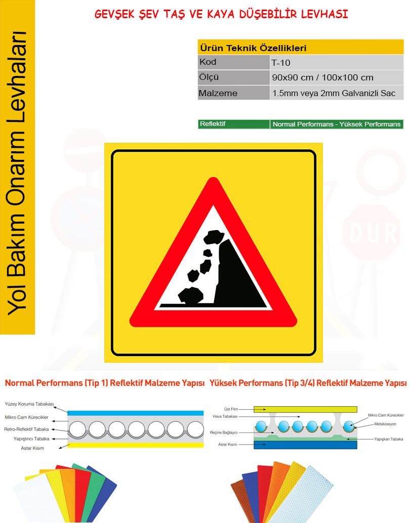gevşek şev trafik işareti