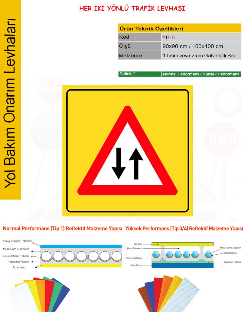iki yönlü trafik işareti nedir