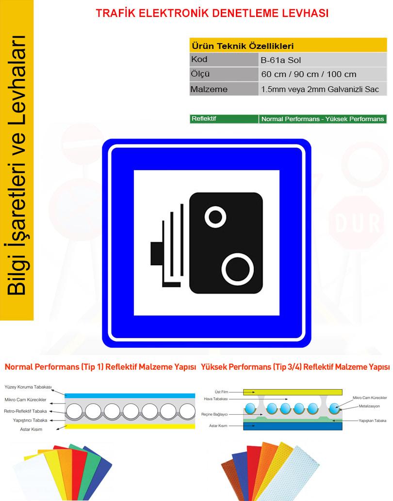trafik elektronik denetleme levhası