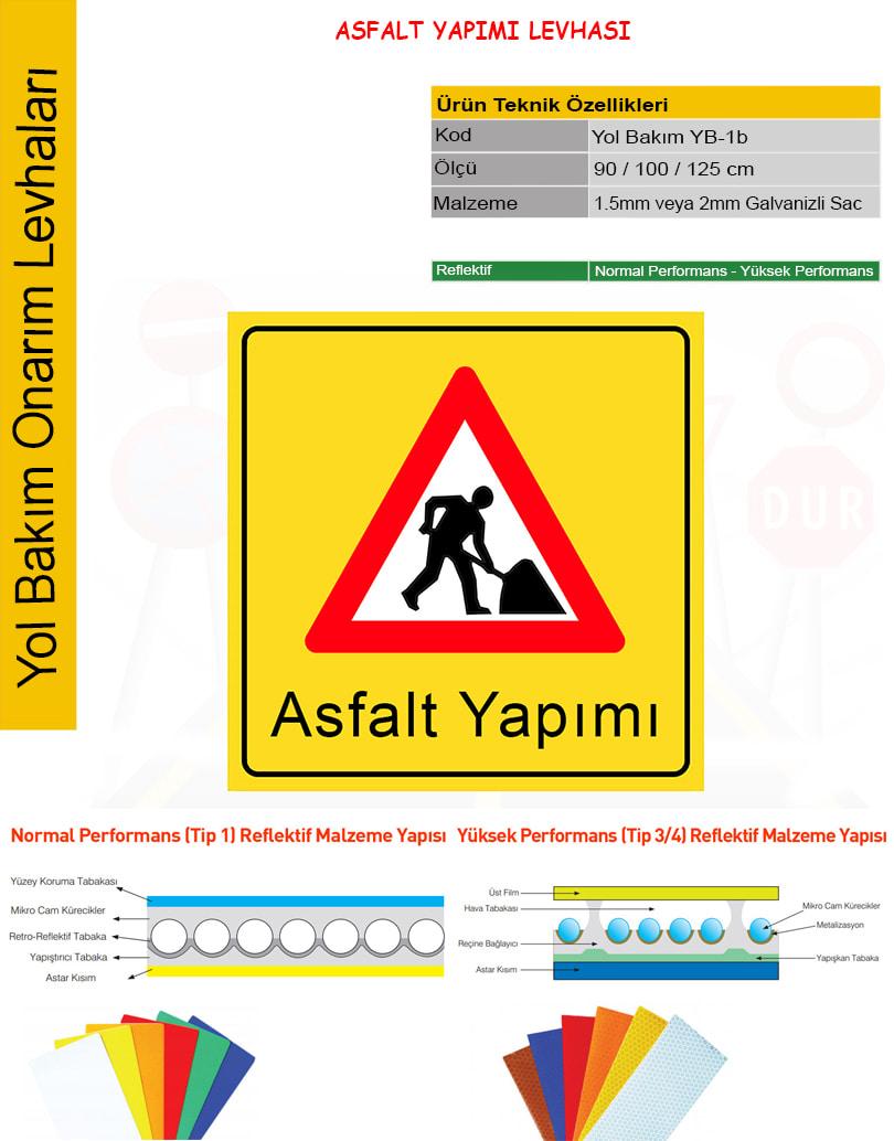 asfalt yapımı levhası