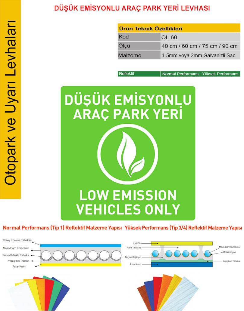 düşük emisyonlu araç park yeri