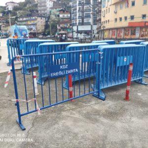 metal güvenlik bariyeri zabıta güvenlik barikatı demir bariyer güvenlik bariyeri demir güvenlik bariyeri toplumsal olayları engelleme demiri imalatı kdz ereğli belediyesi