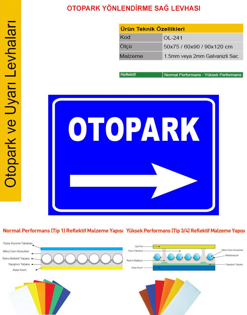 otopark yön işaretleri
