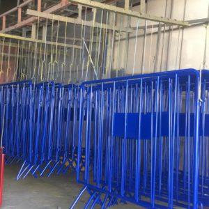 zabıta bariyeri metal güvenlik bariyeri demir güvenlik bariyer trafik ürünleri trafik malzemeleri polis bariyeri üretimi imalatı demir bariyer mavi metal bariyer 2 metre
