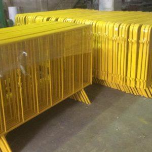 zabıta bariyeri metal güvenlik bariyeri demir güvenlik bariyer trafik ürünleri trafik malzemeleri polis bariyeri üretimi imalatı demir bariyer sarı metal bariyer 2 metre