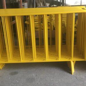 zabıta bariyeri sarı metal güvenlik bariyeri demir güvenlik bariyer trafik ürünleri trafik malzemeleri ilgi trafik sistemleri polis bariyeri üretimi
