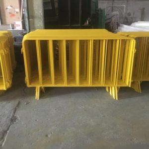 zabıta bariyeri sarı metal güvenlik bariyeri demir güvenlik bariyer trafik ürünleri trafik malzemeleri ilgi trafik sistemleri polis bariyeri imalatı üretimi