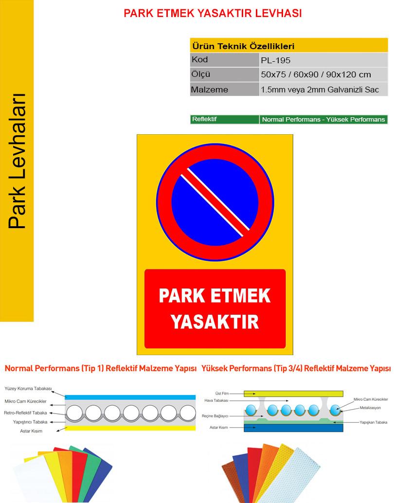 park yasağı tabelası