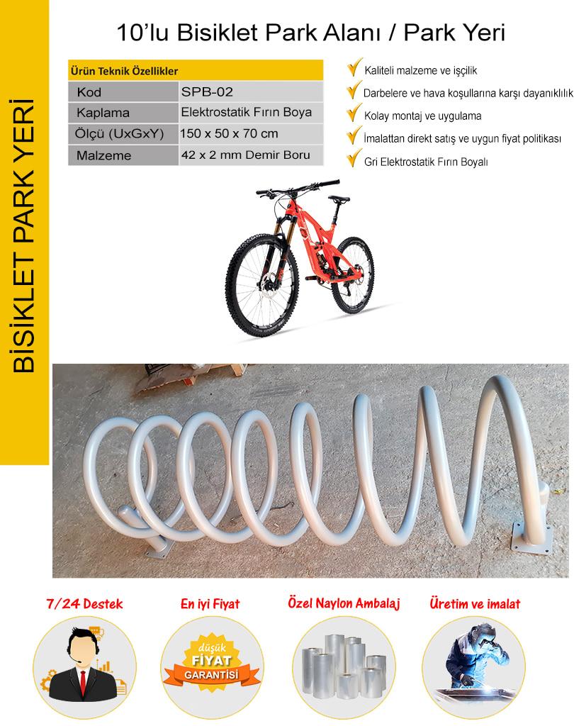 bisiklet parkı 10'lu