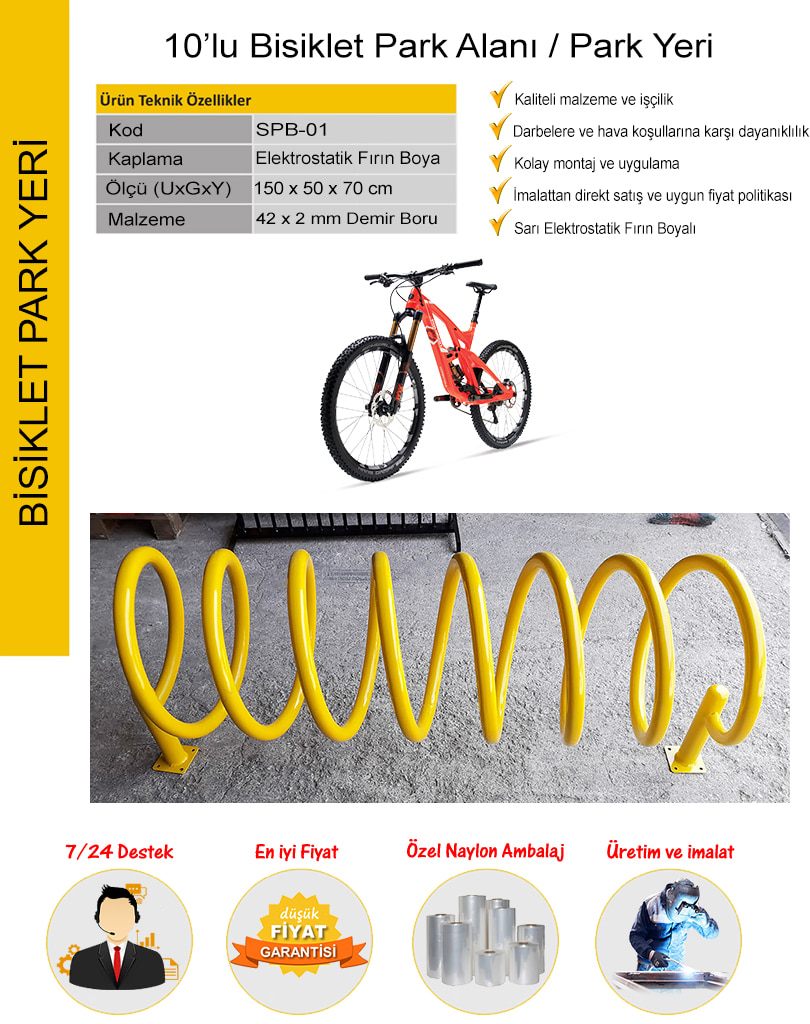10 lu bisiklet park yeri