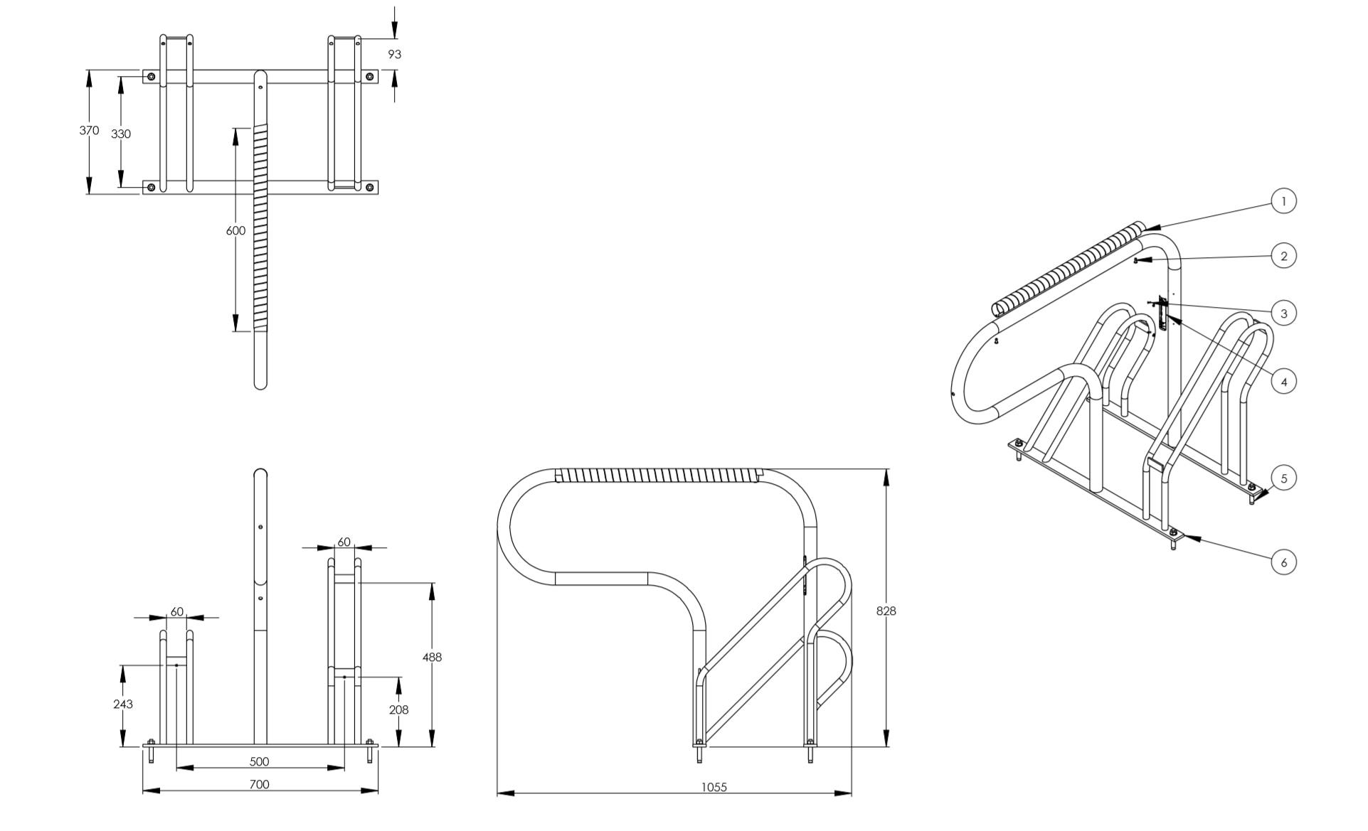 bisiklet park yeri çizimi