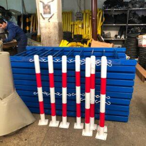 metal delinatör otoyol sabit park bariyeri otopark demir bariyer zincir metal duba metal güvenlik yol bariyeri 100 cm zincirli sabit bariyer zincirli bariyer kancalı fiyatı