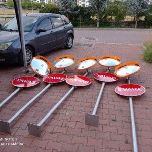 otopark aynası otopark çıkış aynası otopark aynası 80 cm trafik güvenlik aynası yavaş levhası yavaş tabelası levha direği ayna direği imalatı ilgi trafik
