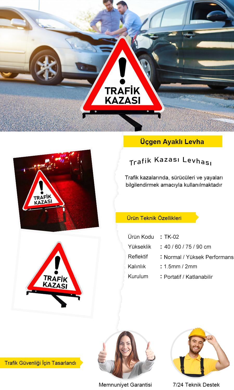 trafik kazası levhası