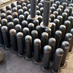 demir duba sabit park bariyeri demir duba nedir metal delinatör otopark demir bariyer kaldırım dubası metal duba yol bariyeri flanşlı metal sabit bariyer 45 cm 2mm