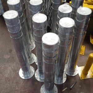 demir duba sabit park bariyeri metal delinatör otopark demir bariyer kaldırım dubası metal duba yol bariyeri halkalı metal sabit bariyer 75 cm imalatı üretimi