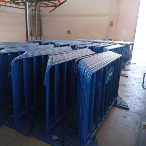 metal güvenlik bariyeri polis bariyeri demir bariyer trafik ürünleri trafik malzemeleri mavi zabıta bariyeri toptan imalatı üretimi ilgi trafik sistemleri zabıta barikatı imalatı ankara