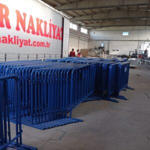 polis bariyeri metal güvenlik bariyeri demir bariyer trafik ürünleri trafik malzemeleri mavi zabıta bariyeri toptan imalatı üretimi ilgi trafik sistemleri zabıta barikatı üretimi