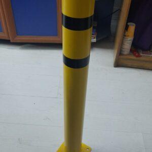 sabit baba metal duba demir duba metal koruma bariyeri araç koruma sistemleri sarı metal duba kaldırım dubası kaldırım demiri imalatı üretimi ilgi trafik sistemleri