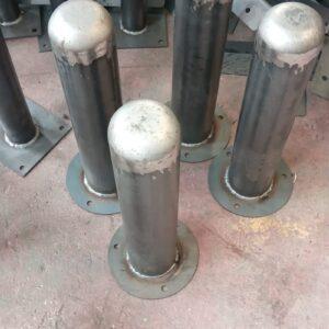 sabit bariyer sabit park bariyeri demir delinatör duba 40 cm metal delinatör otopark demir bariyer kaldırım dubası metal duba yol bariyeri üretimi imalatı ilgi trafik