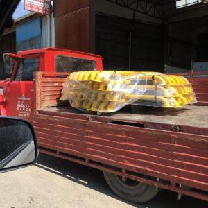 otopark araç stoperi ankara otopark stoper bariyer sistemi araç sonlandırma demiri yaslama direği 180 cm imalatı üretimi ucuz fiyat otopark stoperi lastik bariyeri
