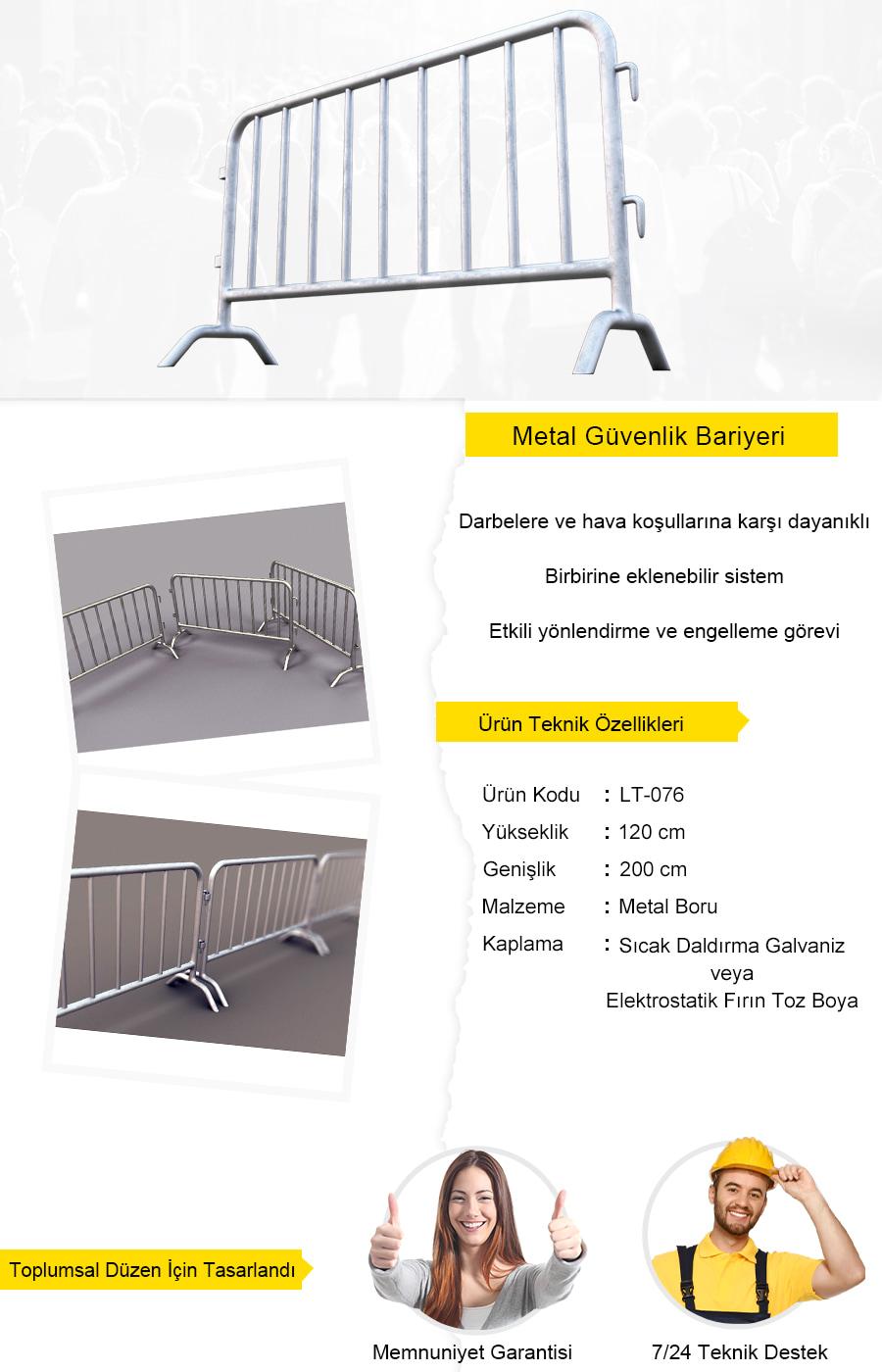 metal güvenlik bariyeri imalatı