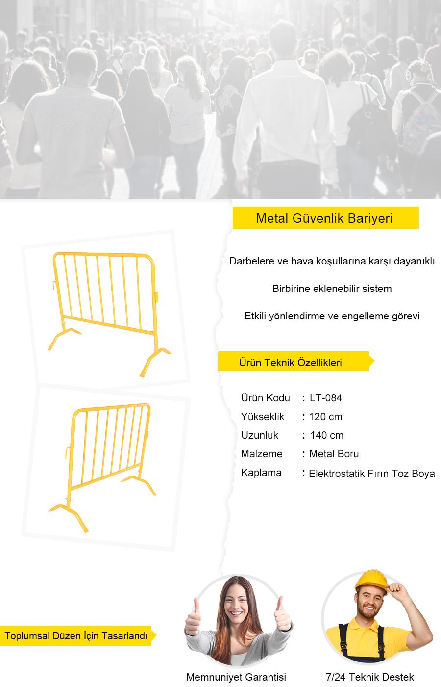 sarı güvenlik bariyeri